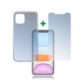Калъф за Apple iPhone 11, 360° защита, хибриден, 4Smarts Premium 4S493005, прозрачен  image