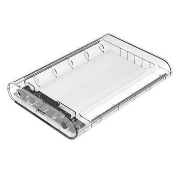 """Кутия 3.5"""" (8.89 cm) Orico 3139U3 за 3.5"""" (8.89 cm) HDD, USB3.0 Micro B, до 10TB, прозрачна image"""