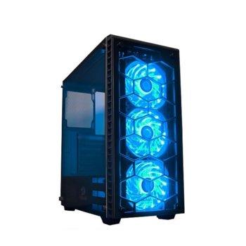 Кутия Redragon Diamond Storm CA903-BK, ATX/M-ATX/Mini-ITX, 2x USB 3.0, прозорец, черна, без захранване image