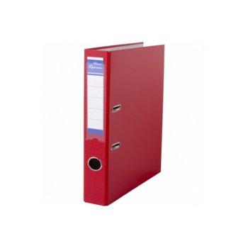 Класьор Rexon, за документи с формат до A4, дебелина 5см, с метален кант, червен image
