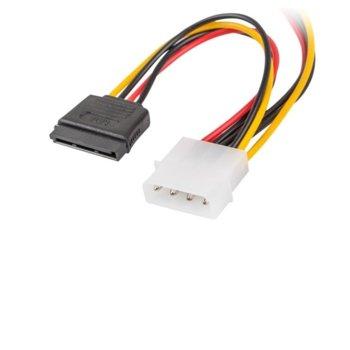 Захранващ кабел Lanberg CA-HDSA-11CU-0015, от Molex(м) към 2x SATA(ж), 0.15m image