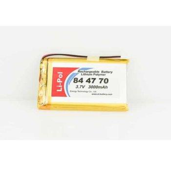 Литиева батерия LP844770-PCM, 3.7V, 3000mAh, Li-polymer, 1бр., PCM защита image