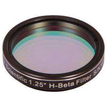 """Филтър за телескоп Explore Scientific H-Beta Nebula 1.25"""", пропуска само светлината на водородните(H-beta) емисии, 31.7mm диаметър на цилиндъра image"""