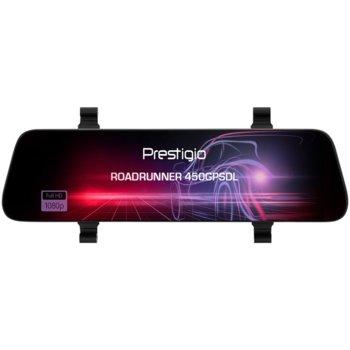 "Видеорегистратор Prestigio RoadRunner 450GPSDL, за автомобил, Full HD, 9.66"" (24.5 cm) IPS touch-screen дисплей, 1GB вградена памет, microSD слот до 128GB, micro-USB image"