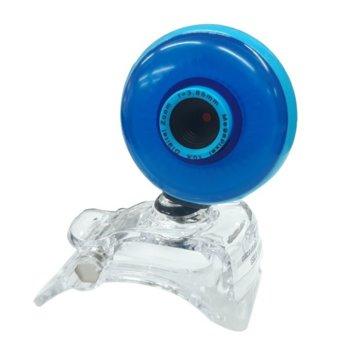 Уеб камера ST- CAM V05 BLUE Semi sphere, микрофон, 6 led светлини, автоматичен баланс на бялото, автоматична корекция на цветовете, USB, синя image