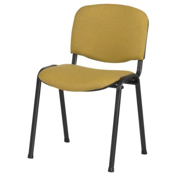 Посетителски стол Carmen 1130 LUX, дамаска, прахово боядисан, жълто-черен image