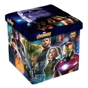 Табуретка Disney Avengers, 3 в 1, MDF и текстил, до 150 kg, шарен image