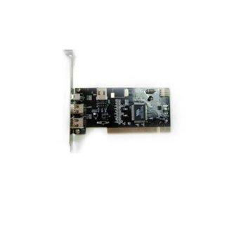 Kонтролер Estillo, карта 1394AV 3 + 1 port 1394 FireWire към PCI Host Adapter,Чипсет: VIA VT6307 image