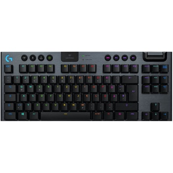 Клавиатура Logitech G915 TK (920-009503), безжична, linear суичове, RGB подсветка, нископрофилни клавиши, US layout, черна, USB, Wireless, Bluetooth image