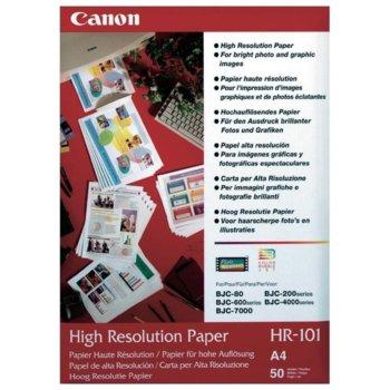 Фотохартия Canon HR-101, A4, матова, 106 g/m2, 50 листа image