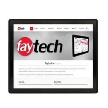 """Индустриален монитор Faytech FT17TMBCAPOB, 17"""" (43.18 cm) SXGA Touchscreen, HDMI, DVI-D, VGA image"""