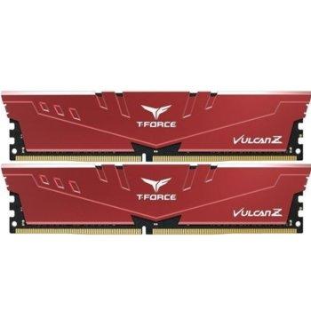 Памет 16GB (2x8GB) DDR4, 3200MHz, Team Group T-Force Vulcan Z TLZRD416G3200HC16CDC01, 1.35V, червени  image