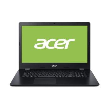 "Лаптоп Acer Aspire 3 A317-32-P67K (NX.HF2EX.00L), четириядрен Gemini Lake Refresh Intel Pentium N5030 1.1/3.1 GHz, 17.3"" (43.94 cm) HD Glare Display, (HDMI), 8GB DDR4, 256GB SSD, 1x USB 3.1, Linux image"