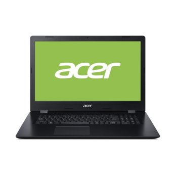 "Лаптоп Acer Aspire 3 A317-32-P67K (NX.HF2EX.00L), четириядрен Gemini Lake Refresh Intel Pentium N5030 1.1/3.1 GHz, 17.3"" (43.94 cm) HD Glare Display, (HDMI), 8GB DDR4, 256GB SSD, 1x USB 3.1, Linux image"