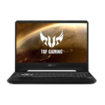 "Лаптоп Asus TUF Gaming FX505 (90NR02M2-M02100), шестядрен Coffee Lake i5-9300H 2.2/4.1 GHz, 15.6""(39.62 cm) 120Hz Full HD IPS & GF GTX 1650 Ti 4GB, (HDMI), 8GB DDR4, 512 SSD, 2x USB 3.1, FreeDOS, 2.2 kg image"