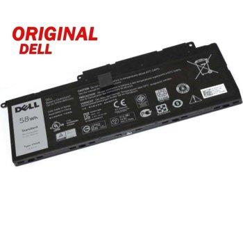 Батерия (оригинална) за лаптоп Dell, съвместима с модели Inspiron 14 (7000) 15 (7000) 17 (7000) F7HVR, 4-cell, 14.8V, 3900mAh image