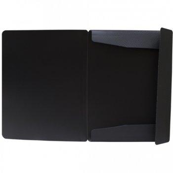 Папка PVC, с ластик, диамант, черна image