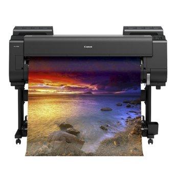 """Плотер Canon imagePROGRAF PRO-4000S, клас 12-цветен 44"""" (1118 mm), 2400x1200 dpi, 3GB RAM, 320GB твърд диск, Wi-Fi, LAN 10/100/1000Base-TX, USB, A0, 3.5"""" (8.89 cm) цветен сензорен панел image"""