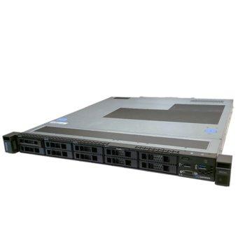 Сървър Lenovo ThinkSystem SR250 (7Y51A030EA), шестядрен Coffee Lake Intel Xeon E-2186G 3.8/4.7 GHz, 16GB DDR4, без твърд диск, 2x 1GbE LOM, 2x USB 3.1, без ОС, 1x 450W PSU image