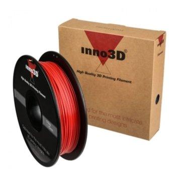 Консуматив за 3D принтер Inno3D, PLA Red, 1.75mm, червен, 500g, пакет от 5 броя image