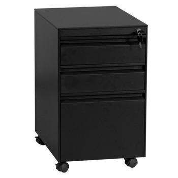 Кардекс Carmen CR-1249 L SAND, картотека, 3x чекмеджета, прахово боядисан, метален, заключване, черен image
