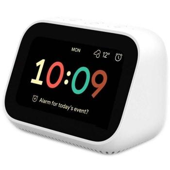 "Часовник Xiaomi Mi Smart Clock (QBH4191GL), смарт, 3.97"" 800x480 цветен дисплей, 1GB RAM, 4GB ROM, 1 х 40мм говорител, Bluetooth 5.0, Wi-fi, вграден Google Assistant, бял image"