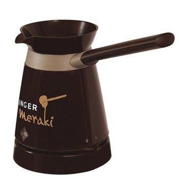 Електрическо джезве Singer Meraki, до 4 чашки кафе, 800 W, кафяво image