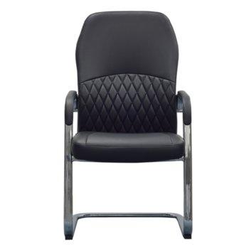 Посетителски стол RFG CRONO M, екокожа, черен, 2 броя в комплкет image
