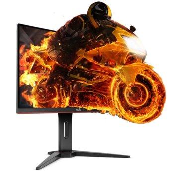 """Монитор AOC C27G1, 27""""(68.58 cm), VA панел, 144Hz, Full HD, 1ms, 80M:1, 250 cd/m2, VGA, DisplayPort, HDMI image"""