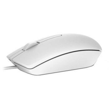 Мишка Dell MS116, оптична(1000 dpi), USB, бяла image