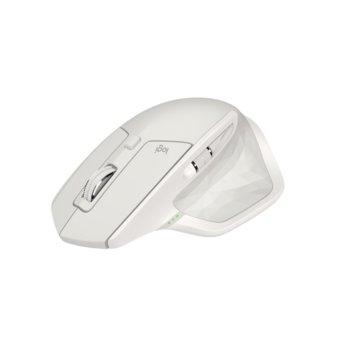 """Мишка Logitech MX Master 2S, лазерна """"Darkfield""""(4000 dpi), безжична, Bluetooth, microUSB, светло сива image"""