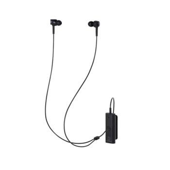 Слушалки Audio-Technica ATH-ANC100BT, микрофон, безжични, до 20 часа издръжливост на батерията, Bluetooth, черни image