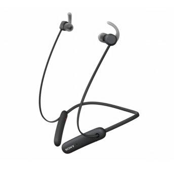 Слушалки Sony WI-SP510, безжични, микрофон, водоустойчиви, за спорт, до 15 часа време за работа, черни image