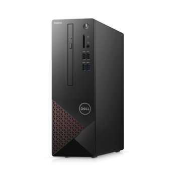 Настолен компютър Dell Vostro 3681 SFF (N502VD3681EMEA01_2101), четириядрен Comet Lake Intel Core i3-10100 3.6/4.3 GHz, 4GB DDR4, 256GB SSD, 4x USB 3.2 Gen 1, клавиатура и мишка, Windows 10 Pro  image