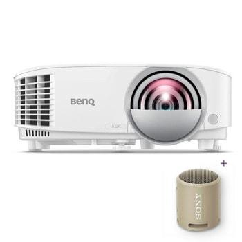 Проектор BenQ MX808STH с подарък тонколона Sony SRS-XB13 (кафява), DLP, XGA (1024X768), 20 000:1, 3600lm, HDMI, VGA image
