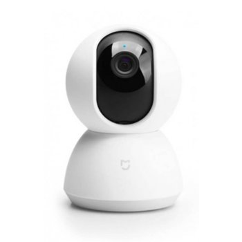 Камера Xiaomi Mi Home Security Camera 360° 1080P, Wi-Fi, 5V, 1A, 3.9mm обектив, MicroSD, бяла image
