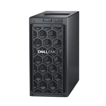 Сървър Dell PowerEdge T140 (#DELL02414), четириядрен Coffee Lake Intel Xeon E-2124 3.3/4.3 GHz, 8GB DDR4 UDIMM, 2x 1000GB HDD, 2x 1GbE LOM, 3x USB 3.0, без ОС, без PSU image
