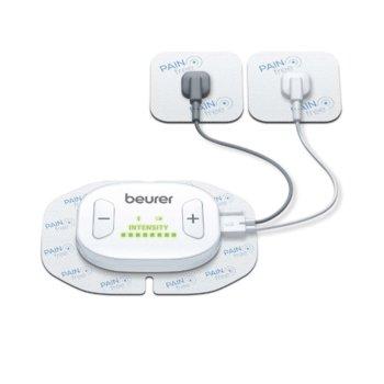 Масажор Beurer EM 70, за лечение на болка, 19 програми, таймер, 4 електрода, бял image