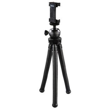Мини статив Hama FlexPro, държачка за смартфон, 27 cm, черен image