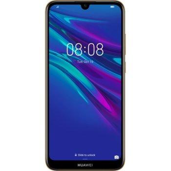 """Смартфон Huawei Y6 2019 (Amber Brown), поддържа 2 sim карти, 6.09"""" (15.47 cm), HD IPS дисплей, четириядрен Cortex-A53 2.0 GHz, 2GB RAM, 32GB Flash памет(+ microSD слот), 13 MPix + 8 MPix камера, Android 9.0, 150 g image"""