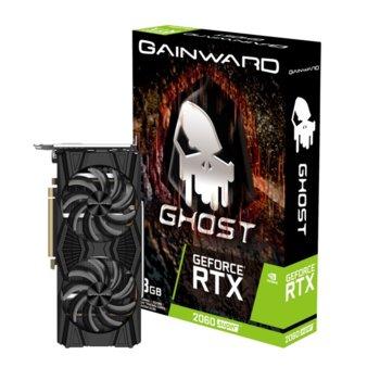 Видео карта nVidia GeForce RTX 2060 SUPER, 8GB, Gainward GeForce RTX 2060 SUPER Ghost, PCI-E 3.0, GDDR5, 256bit, Display Port, HDMI, DVI image