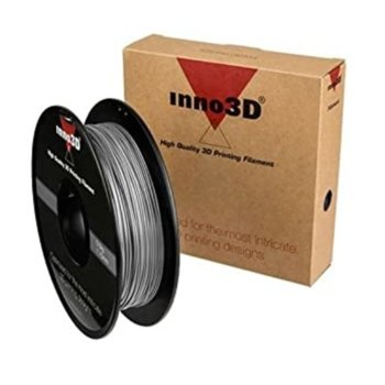 Консуматив за 3D принтер Inno3D, ABS Silver, 1.75mm, сребрист, 500g, пакет от 5 броя image