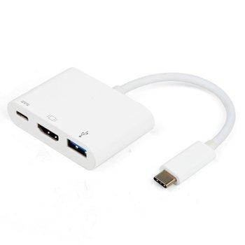 Vivanco 34293 Адаптер 3in1 USB Type C - HDMI, бял product