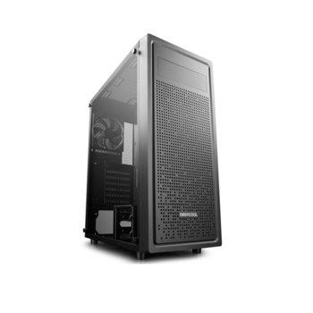 Кутия DeepCool E-Shield, E-ATX, ATX, M-ATX, Mini-ITX, 1x USB 3.0, 2x USB 2.0, 1x включен вентилатор, прозорец от закалено стъкло, черна, без захранване image