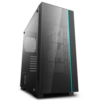 Кутия Deep Cool MATREXX 55 RGB V3, E-ATX/ATX/mATX/Mini-ITX, 1x USB 3.0, страничен прозорец, черна, без захранване image