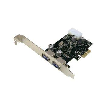 Контролер LogiLink PC0054A, от PCI Express x1(Rev 2.0) към 2x USB 3.0(ж), до 5 Gbit/s трансфер image