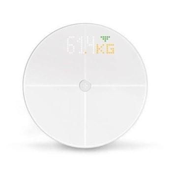 Електронен кантар MyKronoz MyScale, капацитет 180 кг, Bluetooth, Wi-Fi, LED дисплей, измерва BMI/мускулна маса/костна маса/количество вода в организма, бял image