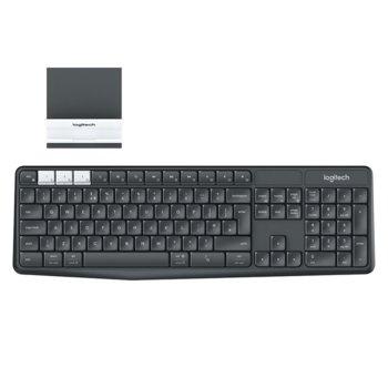 Клавиатура Logitech K375s, безжична, със стенд, черна, Bluetooth и wireless, MULTI-DEVICE image