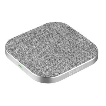 Безжично зарядно Sandberg Wireless Charger Pad, 1x USB Type C, до 15W, защита от презареждане, съвсместимо с QI смартфони image