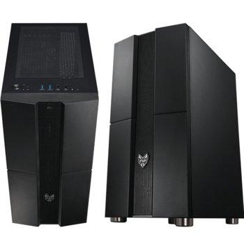 Кутия Fortron CMT271, ATX/MicroATX/Mini-ITX, 2x USB 3.0, 1x 120mm вентилатор отзад, страничен прозорец, черна, без захранване image